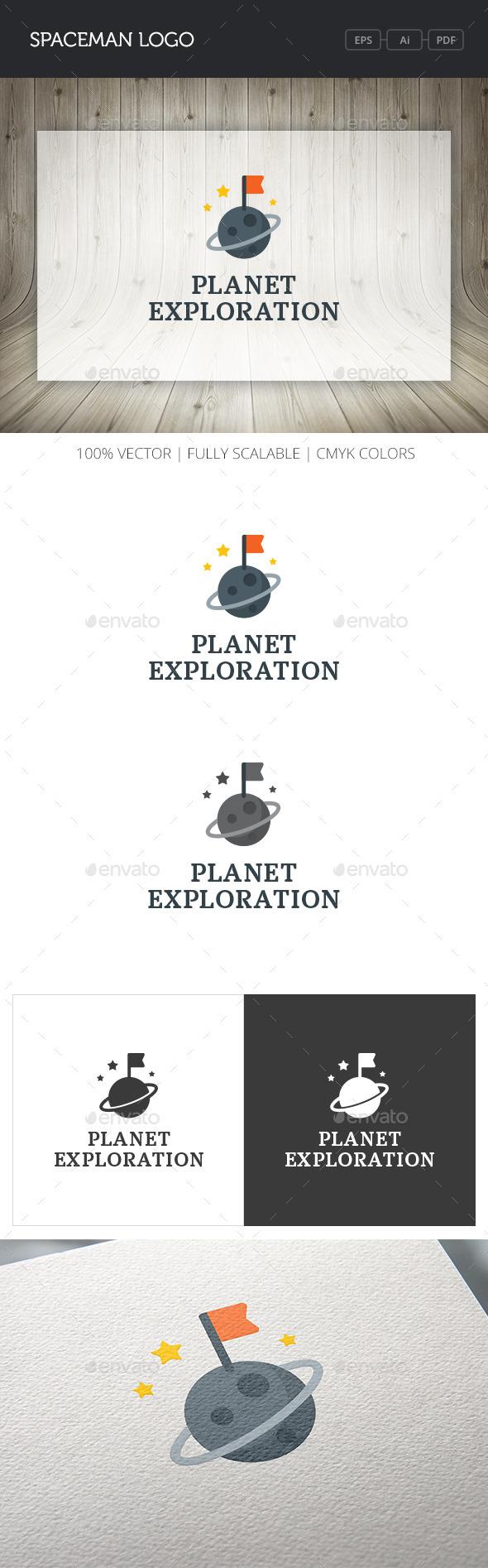 GraphicRiver Planet Exploration Logo 10755337