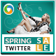 Spring Sales Twitter Header - GraphicRiver Item for Sale