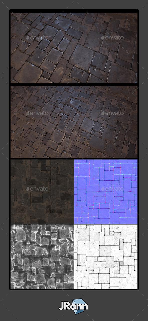 3DOcean Stone Floor Tile 01 10755479