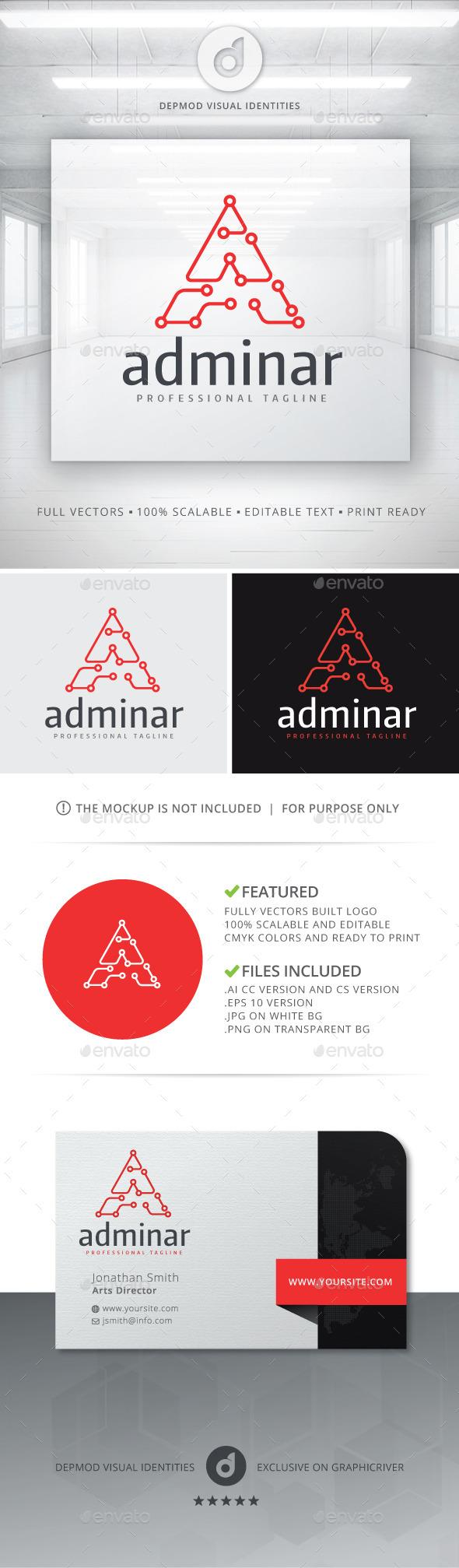 GraphicRiver Adminar Logo 10755663