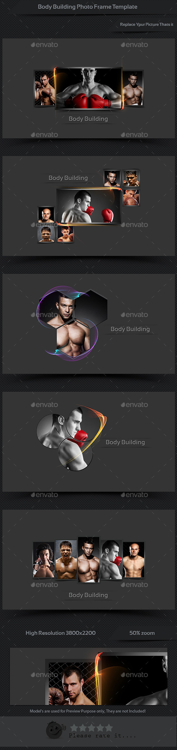 GraphicRiver Body Building Photo Frame Template 10755698