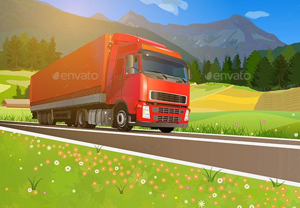 GraphicRiver Truck Cargo 10755701