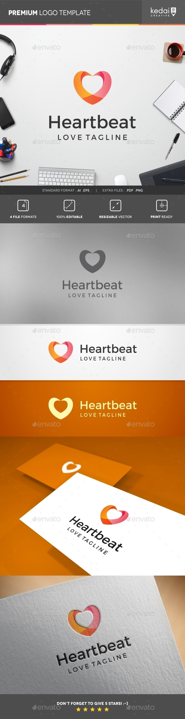 GraphicRiver Heart Beat 10755767