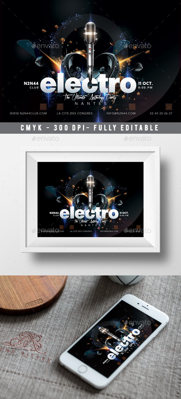 GraphicRiver Electro Flyer 10755792