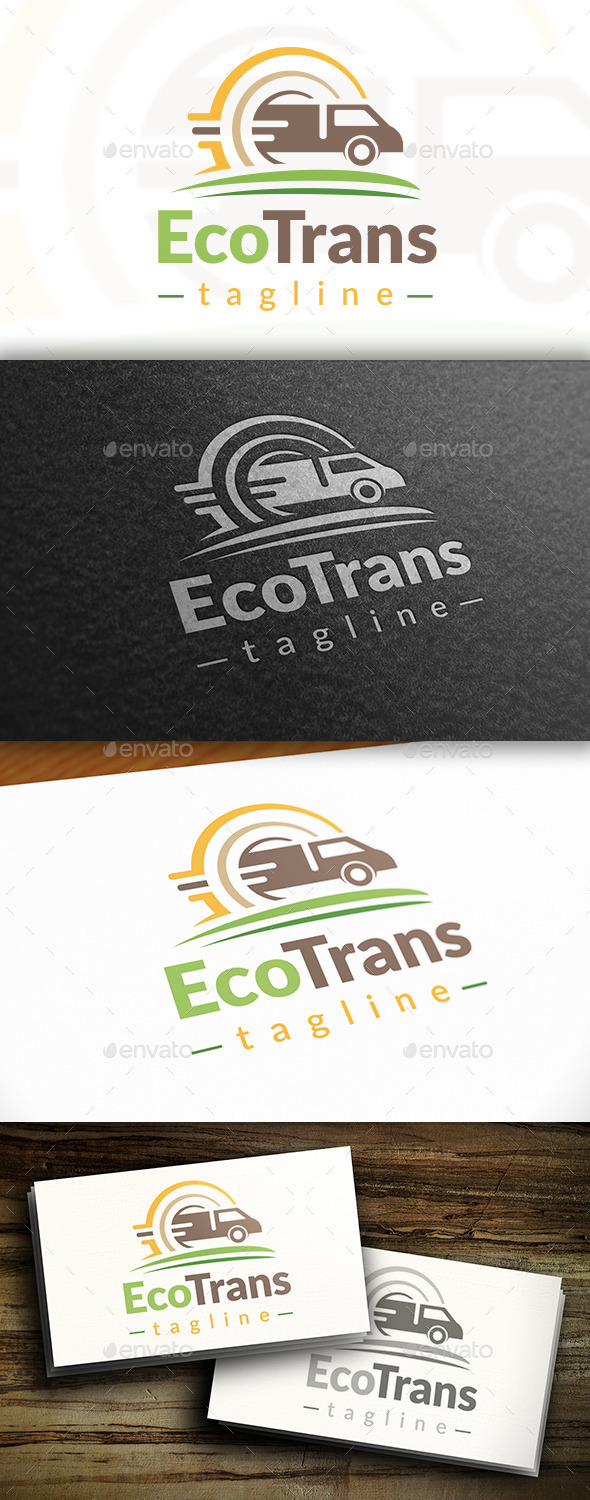 GraphicRiver Eco Transport Logo 10755994