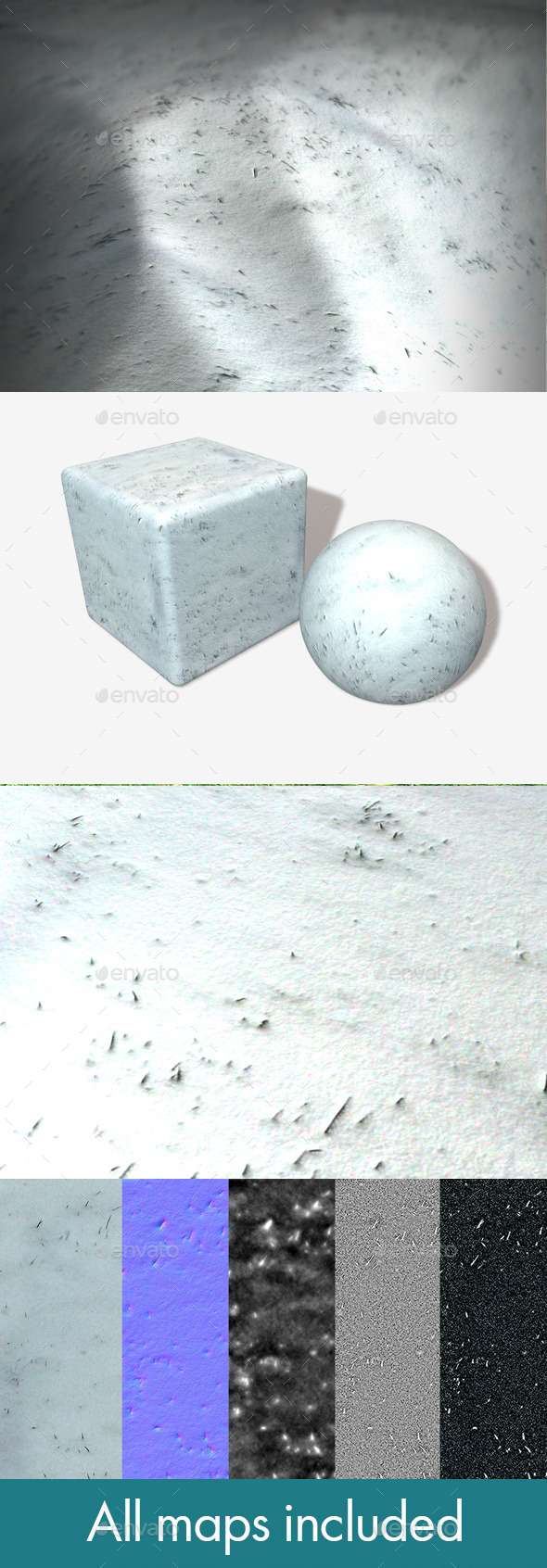 Thick Snow on Grass Seamless Texture - 3DOcean Item for Sale