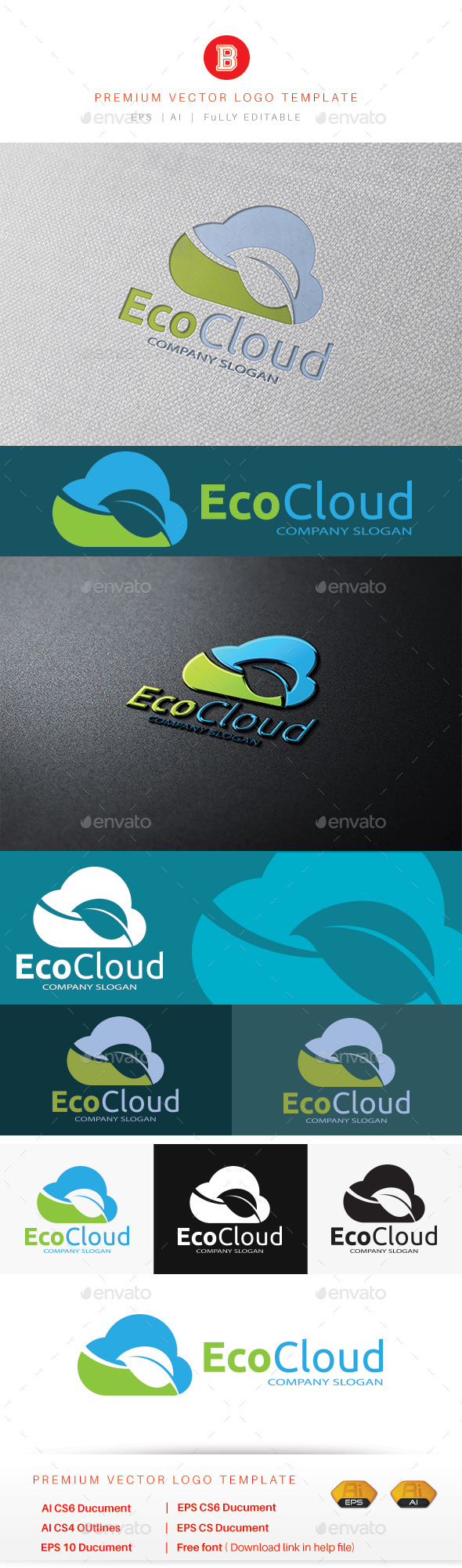 GraphicRiver Eco Cloud 10756122