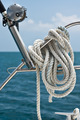 Fishing rod and reel on a yacht - PhotoDune Item for Sale