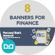 Flat Concept Banners for Finance - GraphicRiver Item for Sale