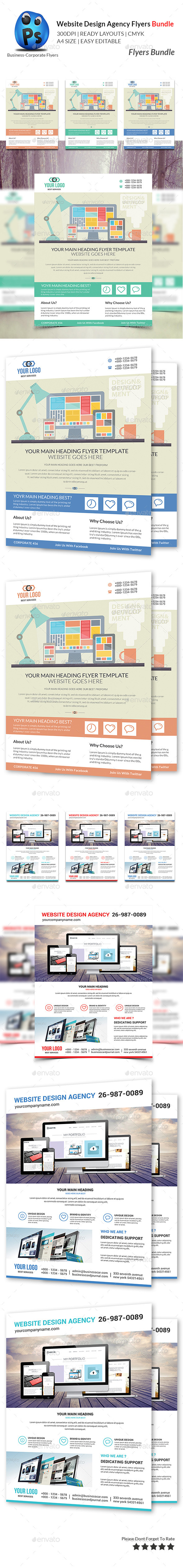 GraphicRiver Website Design Agency Bundle 10756384
