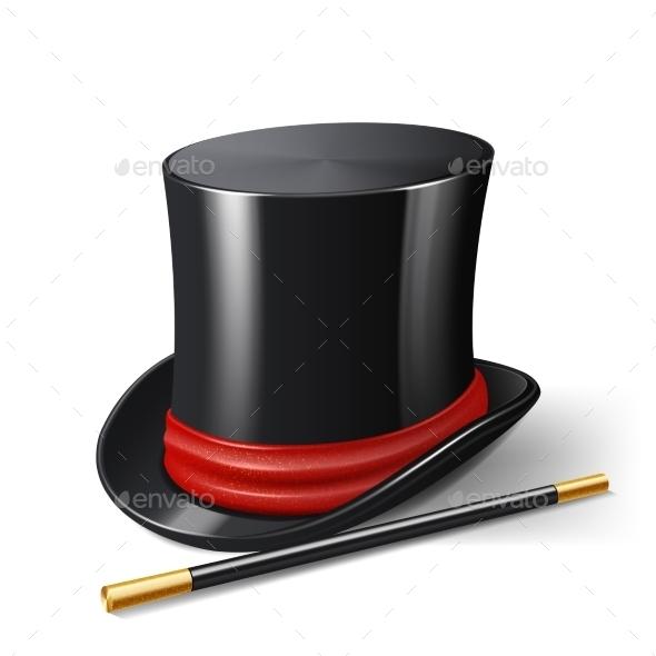 GraphicRiver Magician Hat Realistic 10756438