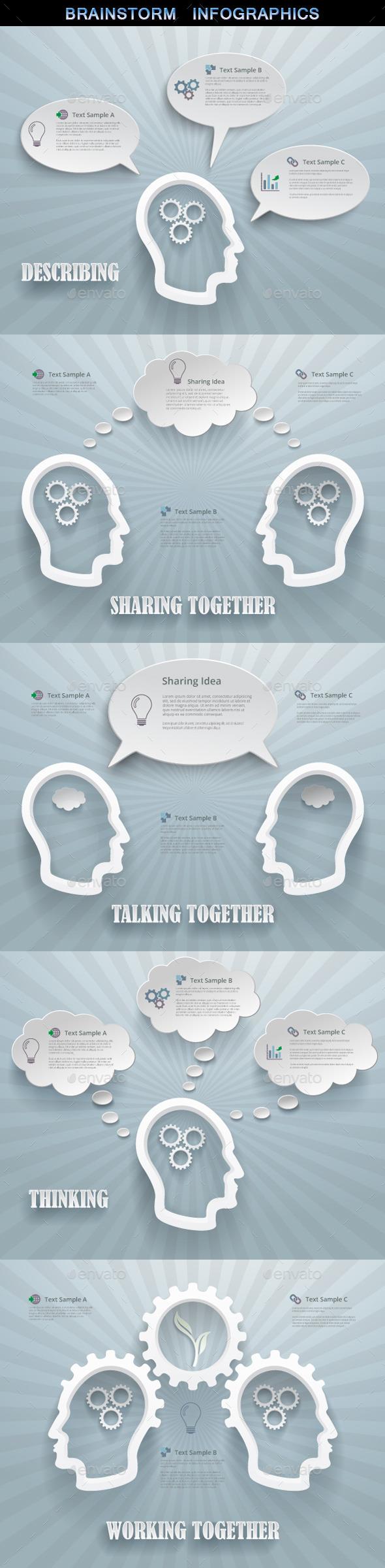 GraphicRiver Brainstorm Concept Infographics 10729149