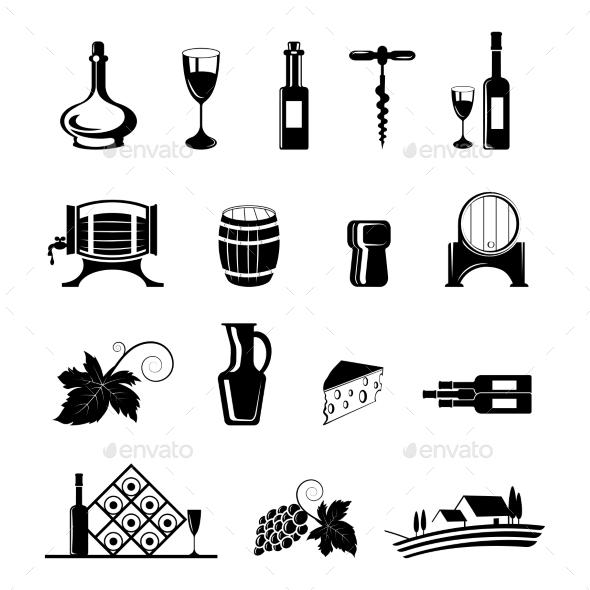 GraphicRiver Wine Icons Set 10756620