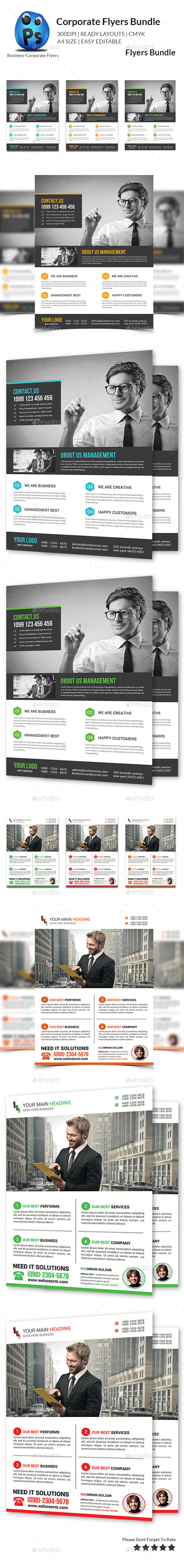 GraphicRiver Corporate Business Flyer Bundle 10756650