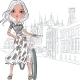Fashion Girl in Bruges  - GraphicRiver Item for Sale