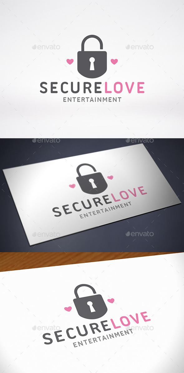 GraphicRiver Secure Love Logo Template 10756679