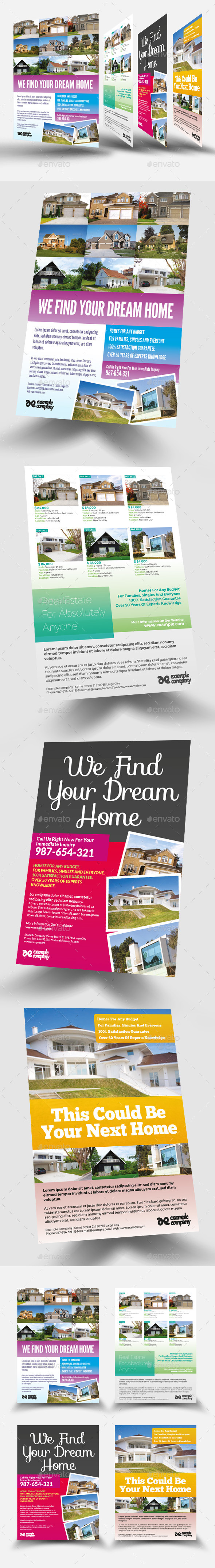 GraphicRiver Real Estate Flyers 10756693