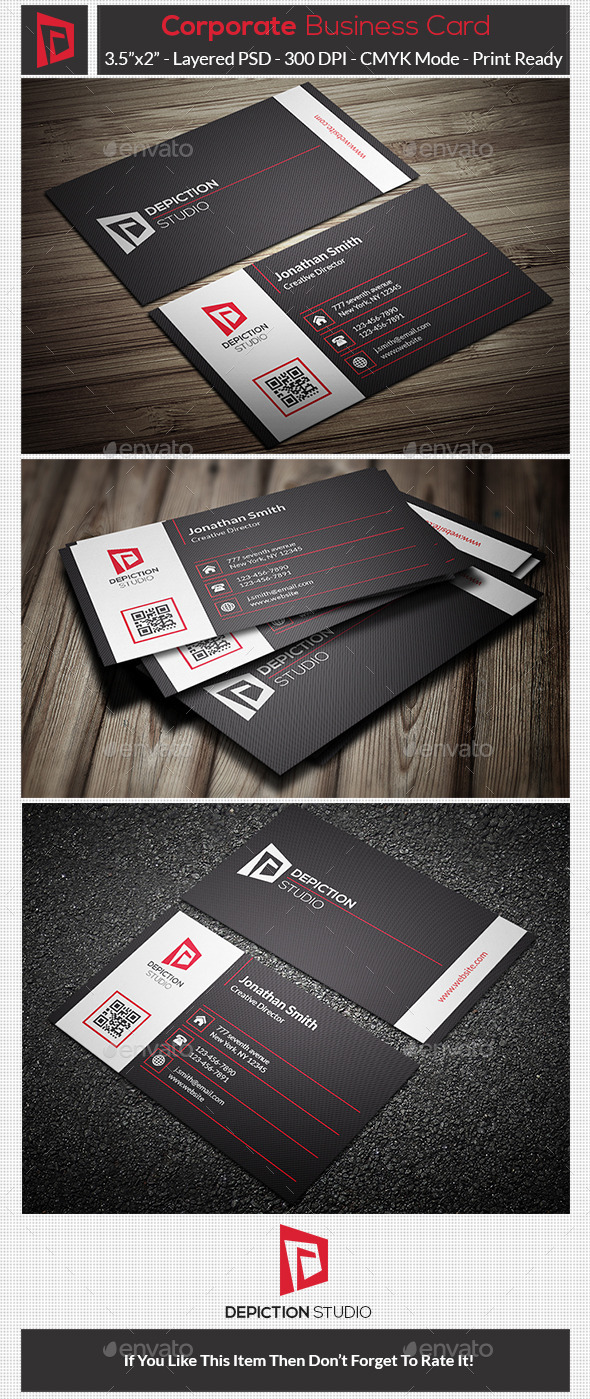GraphicRiver Corporate Business Card 10756864