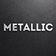 Simple Metallic Text Effect - GraphicRiver Item for Sale