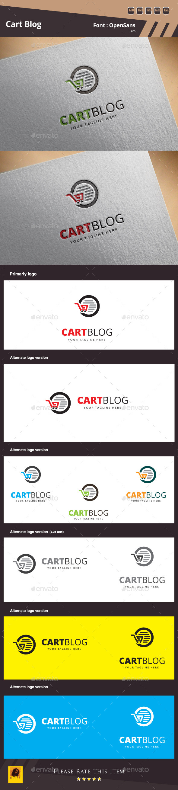 GraphicRiver Cart Blog Logo Template 10757169