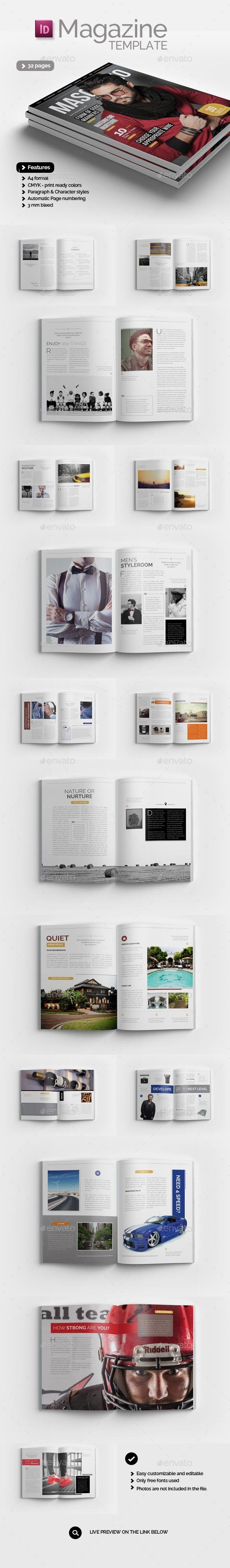 GraphicRiver Magazine Template Masculino 10683986