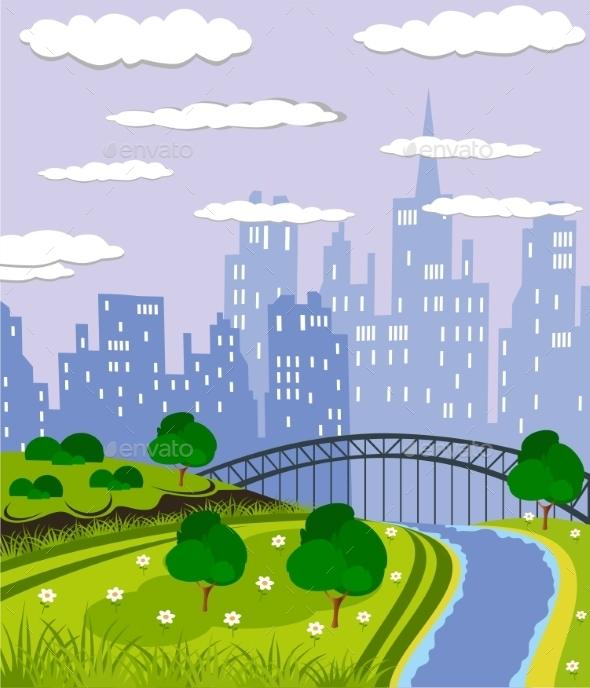 GraphicRiver City Park 10757683