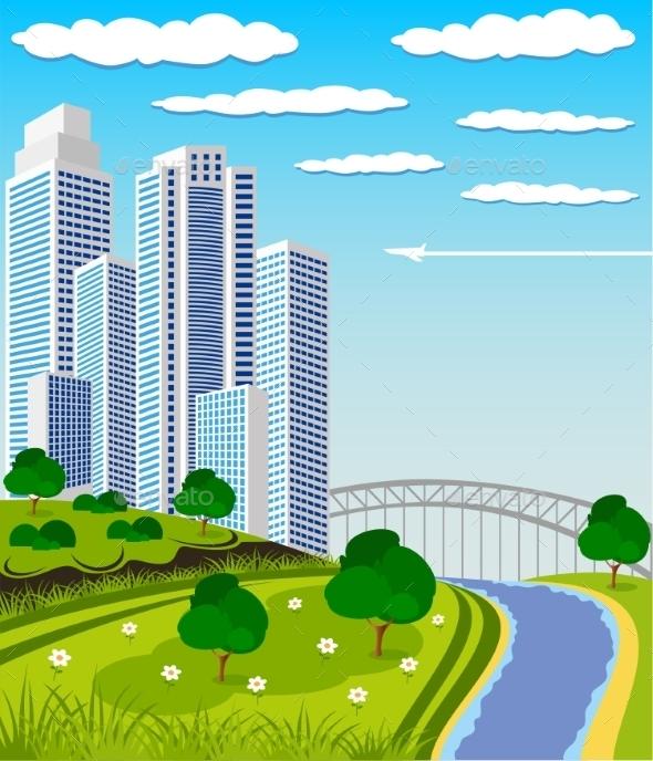 GraphicRiver Modern Metropolis Skyline 10757763