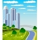 Modern Metropolis Skyline - GraphicRiver Item for Sale