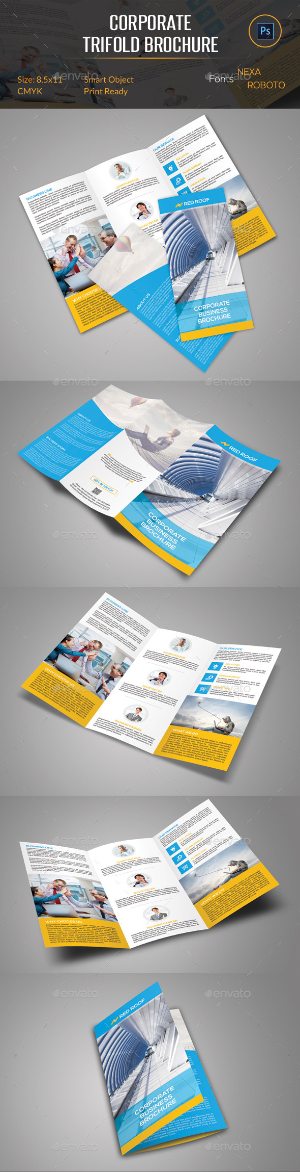 GraphicRiver Corporate Trifold Brochure 10758776