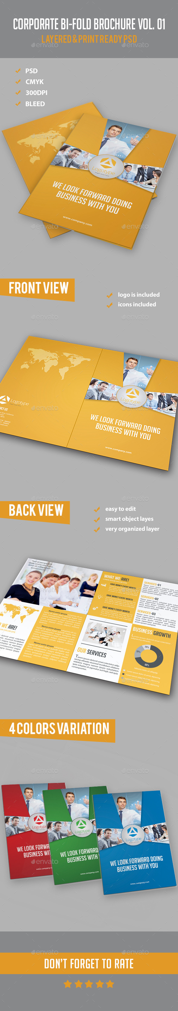 GraphicRiver Corporate Bi-fold Brochure Vol 01 10758810