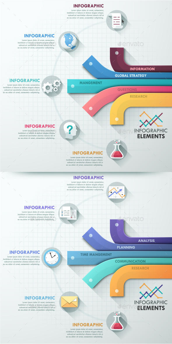 GraphicRiver Modern Infographic Options Template 2 Colors 10758813