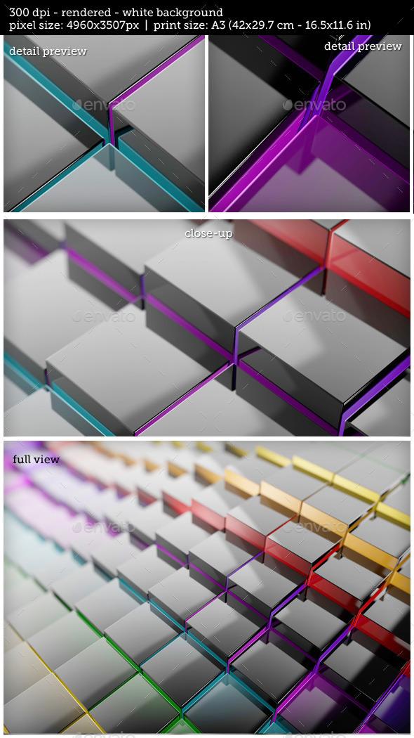 GraphicRiver Multiple Cubes Business Background Presentation 10758821