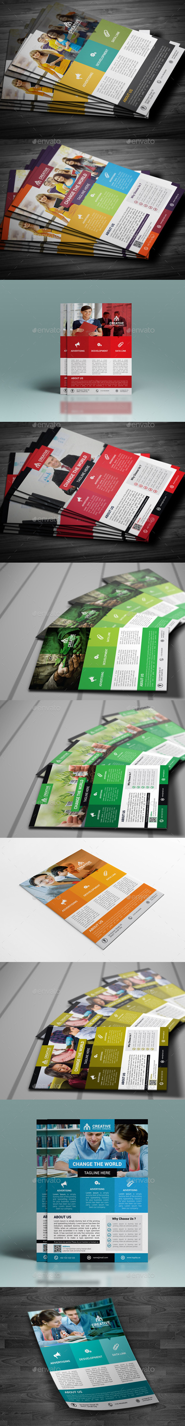 GraphicRiver Corporate Flyer Bundle 10758859
