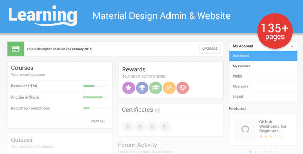 ThemeForest Learning App Learning Management System Template 10759166