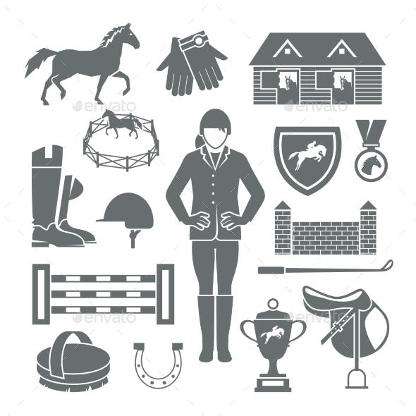 GraphicRiver Jockey Icons Black 10759288