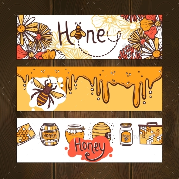 GraphicRiver Honey Banner Set 10759458