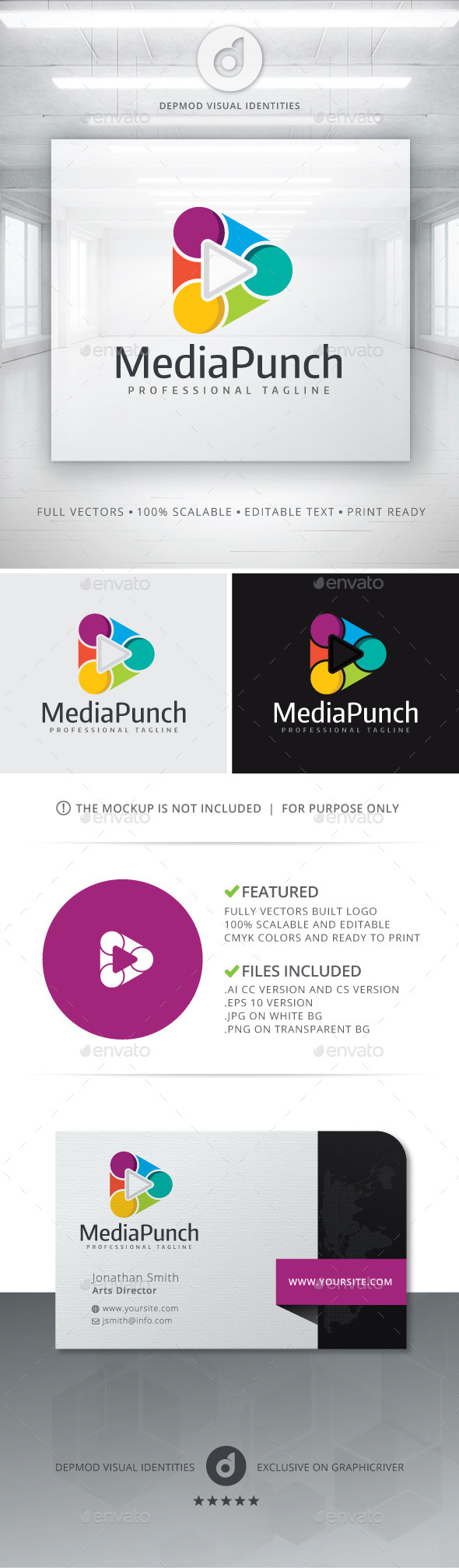 GraphicRiver Media Punch Logo 10759665