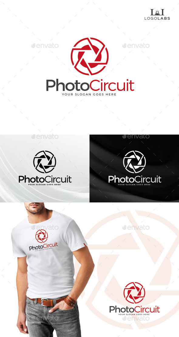 GraphicRiver Photo Circuit Logo 10759679