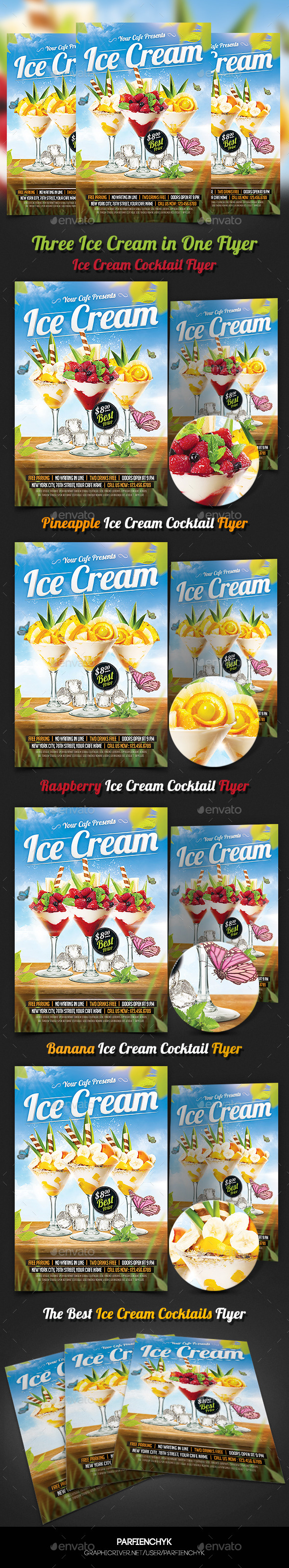 GraphicRiver Ice Cream Cocktails Party Flyer Template 10759692