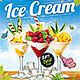 Ice Cream Cocktails Party Flyer Template - GraphicRiver Item for Sale