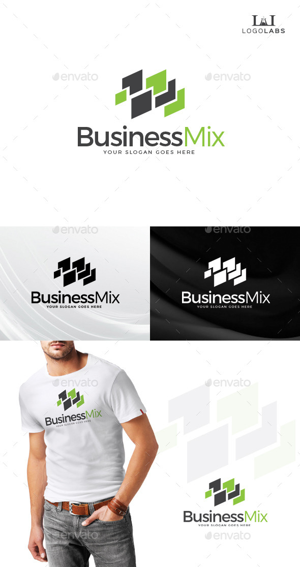GraphicRiver Business Mix Logo 10759747