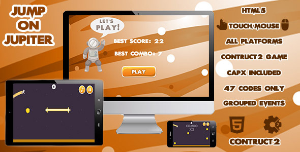 CodeCanyon Jump On Jupiter Game 10759873