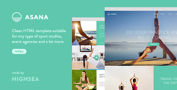 ThemeForest Asana Sport and Yoga HTML Template 10759886