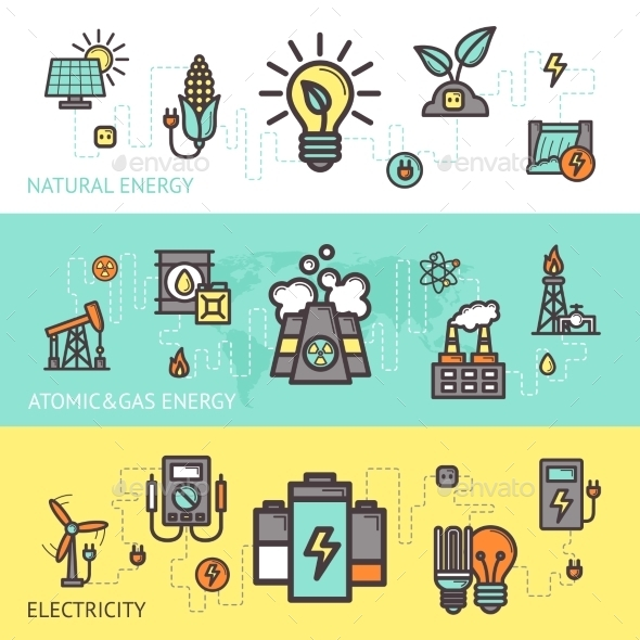 GraphicRiver Energy Banner Set 10759919