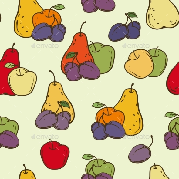 GraphicRiver Fruits Seamless Pattern 10759942