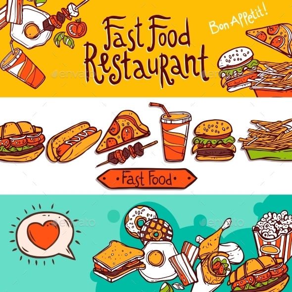 GraphicRiver Fast Food Banners 10759949