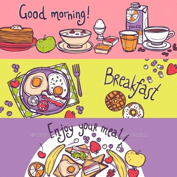 GraphicRiver Breakfast Banner Set 10759960