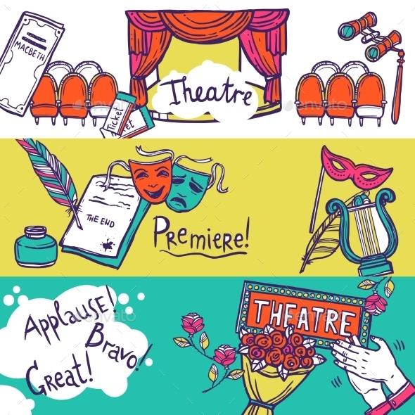 GraphicRiver Theatre Banner Set 10759991