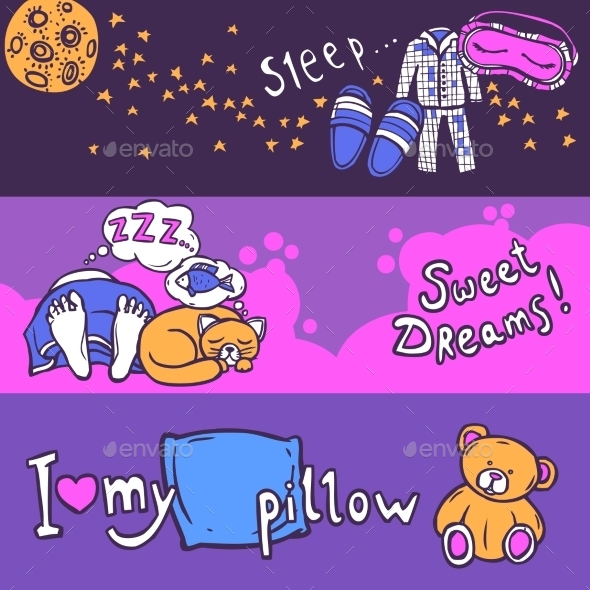 GraphicRiver Sleep Time Banner Set 10759994