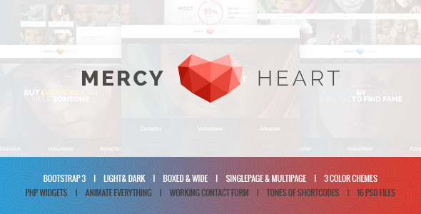 ThemeForest Mercy Heart Modern Charity HTML Template 10759998